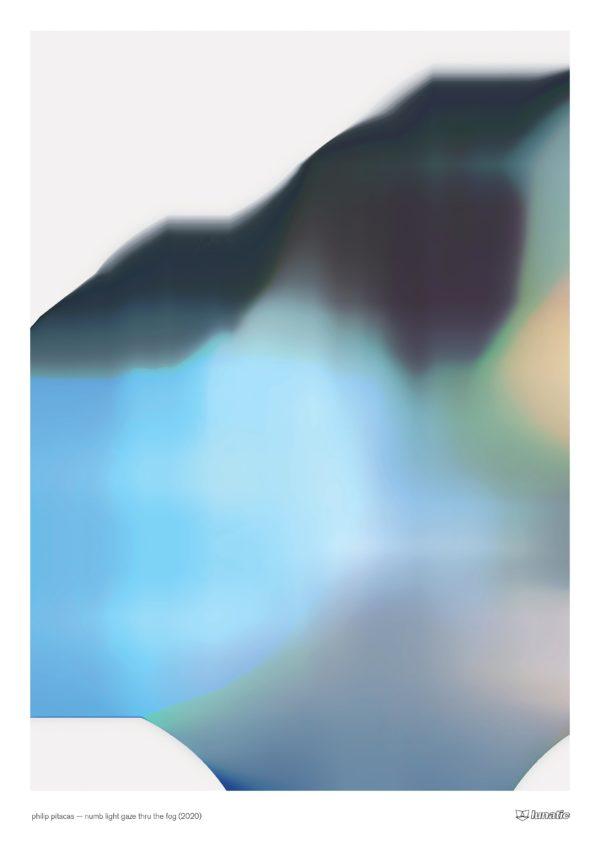 "philip pitacas, ""numb light gaze thru the fog"", 2020"